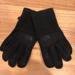 North Face Black U/R Powered Men's Small Gloves